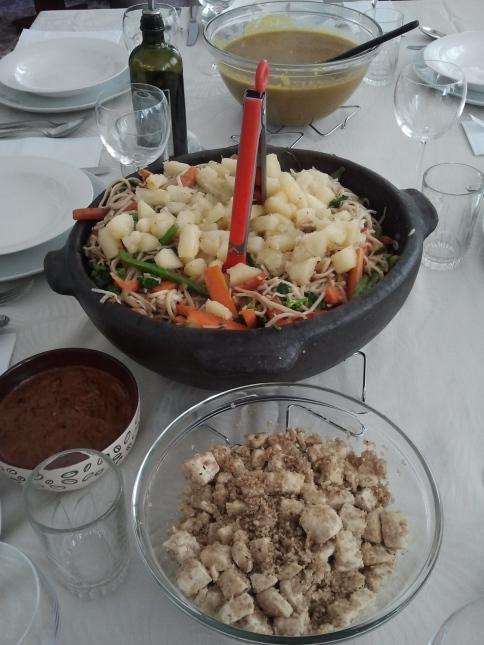 Almoço tailandês